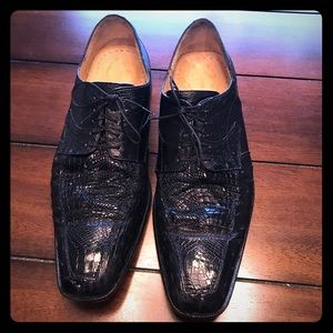Other - Beautiful Black Genuine Ostrich Men's Shoes Sz. 12
